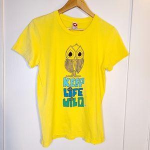 Ando & Friends Yellow Keep Life Wild Tshirt M